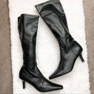 Rampage Black stiletto Heels Boots Size 9